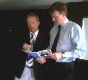 Andy meets the Minister Richard Benyon at the IWC in Agadir
